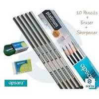 Apsara Platinum Extra Dark Pencil (Pack of 10)
